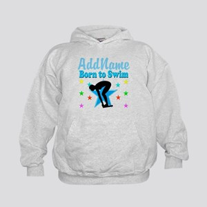1ST PLACE SWIMMER Kids Hoodie