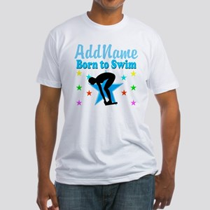 1ST PLACE SWIMMER Fitted T-Shirt