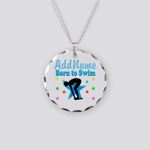 1ST PLACE SWIMMER Necklace Circle Charm