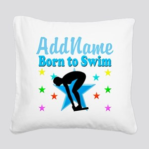 1ST PLACE SWIMMER Square Canvas Pillow