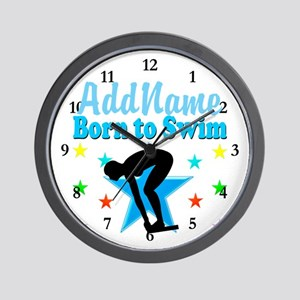 1ST PLACE SWIMMER Wall Clock
