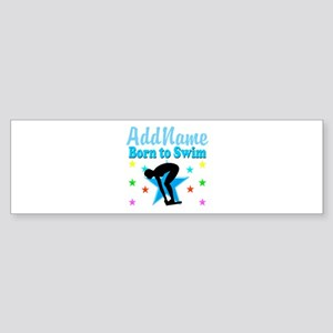 1ST PLACE SWIMMER Sticker (Bumper)
