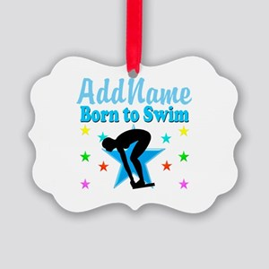 1ST PLACE SWIMMER Picture Ornament
