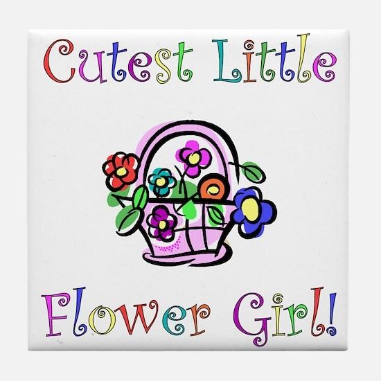 Cutest Little Flower Girl Tile Coaster