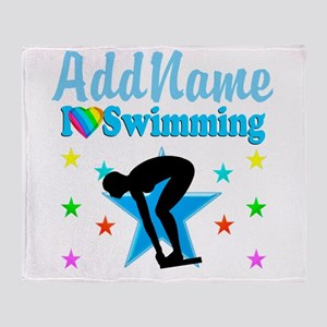 SWIM TEAM Throw Blanket