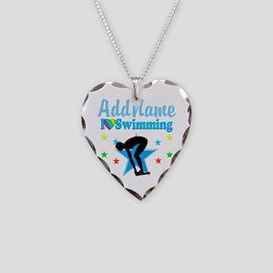 SWIM TEAM Necklace Heart Charm