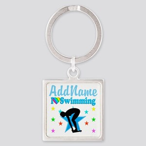 SWIM TEAM Square Keychain