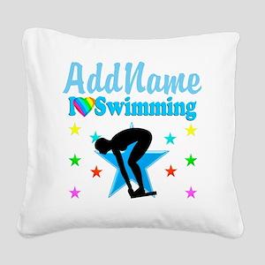 SWIM TEAM Square Canvas Pillow
