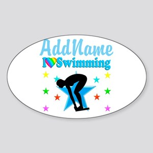 SWIM TEAM Sticker (Oval)