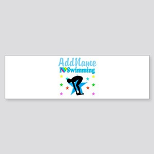 SWIM TEAM Sticker (Bumper)