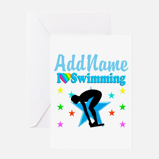 SWIM TEAM Greeting Card