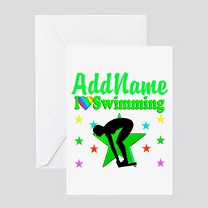 BORN TO SWIM Greeting Card