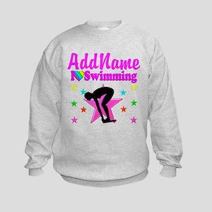 LOVE SWIMMING Kids Sweatshirt