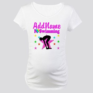 LOVE SWIMMING Maternity T-Shirt