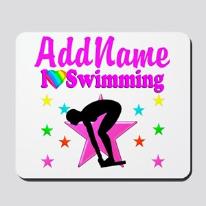LOVE SWIMMING Mousepad
