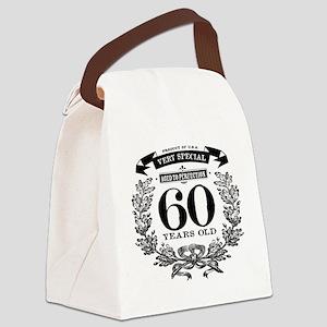 60th birthday vintage design Canvas Lunch Bag