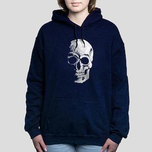 chalk skull sketch Women's Hooded Sweatshirt