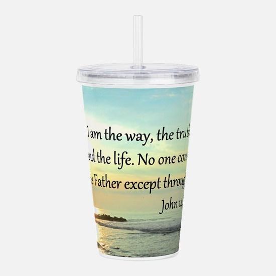 JOHN 14:6 Acrylic Double-wall Tumbler
