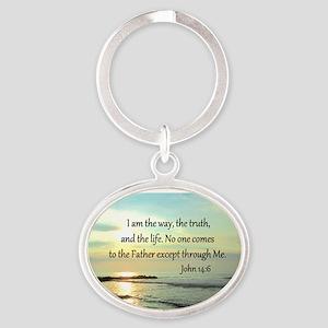 JOHN 14:6 Oval Keychain