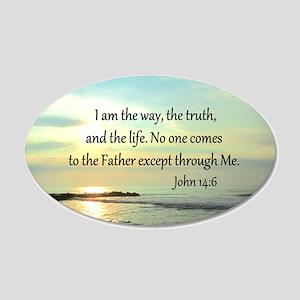 JOHN 14:6 20x12 Oval Wall Decal