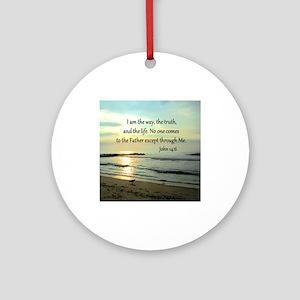 JOHN 14:6 Ornament (Round)