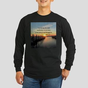 JOHN 14:6 Long Sleeve Dark T-Shirt