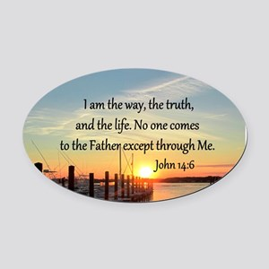 JOHN 14:6 Oval Car Magnet