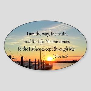 JOHN 14:6 Sticker (Oval 10 pk)