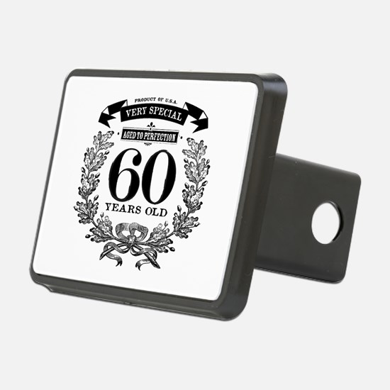 60th birthday vintage design Hitch Cover