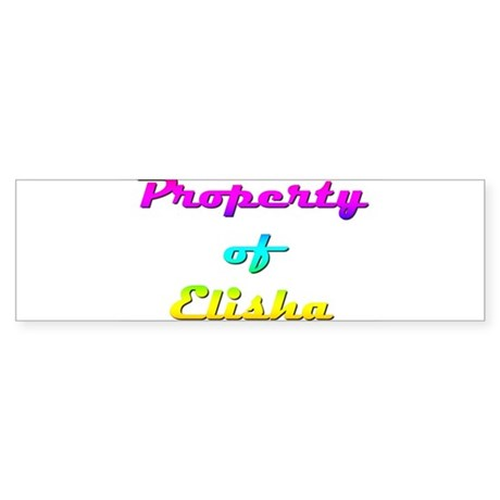 Property Of Elisha Female Sticker (Bumper)