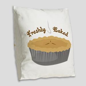 Freshly Baked Burlap Throw Pillow