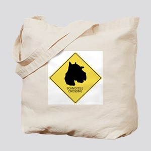 Schnoodle crossing Tote Bag