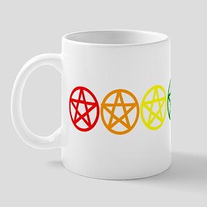 Rainbow Pentacles Mug