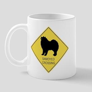 Samoyed crossing Mug