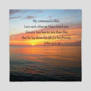 JOHN 15:12 Queen Duvet