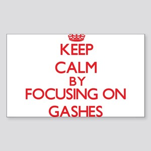 Keep Calm by focusing on Gashes Sticker