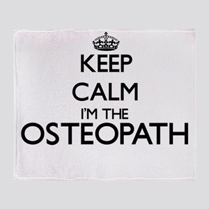 Keep calm I'm the Osteopath Throw Blanket