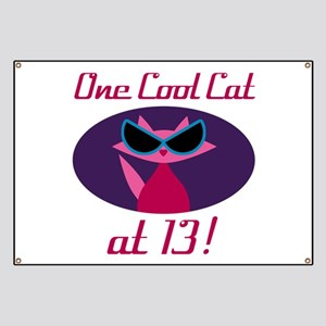 Cool Cat 13th Birthday Banner