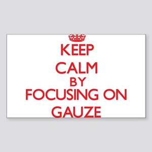 Keep Calm by focusing on Gauze Sticker