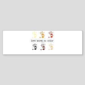 love knows no color Sticker (Bumper)