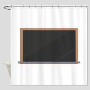 Chalk Board Shower Curtain