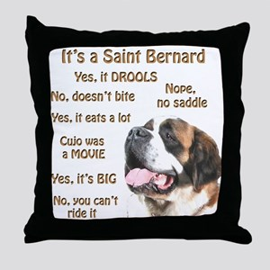 Saint Bernard FAQ Throw Pillow