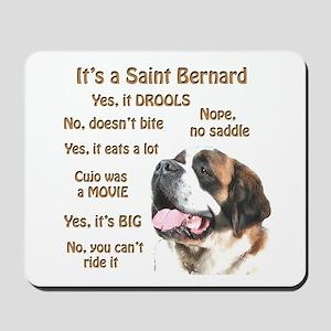 Saint Bernard FAQ Mousepad
