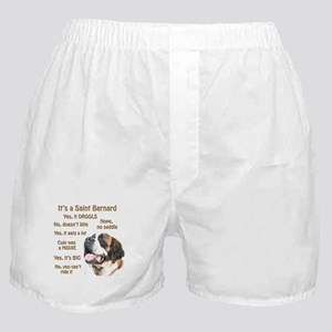 Saint Bernard FAQ Boxer Shorts