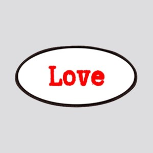 Typewriter Red Font Love Patches