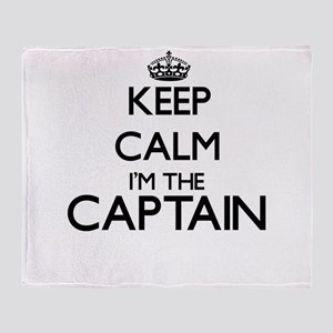 Keep calm I'm the Captain Throw Blanket