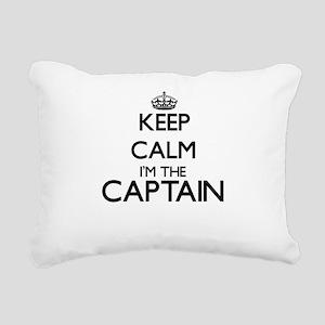 Keep calm I'm the Captai Rectangular Canvas Pillow