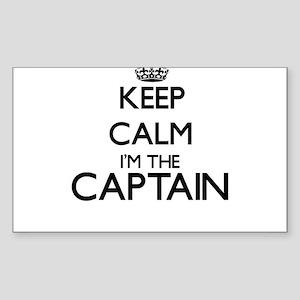 Keep calm I'm the Captain Sticker