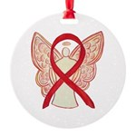 Red Ribbon Angel Ornament