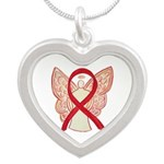 Red Ribbon Angel Necklaces